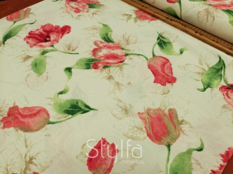 Tulipános f dekortextil
